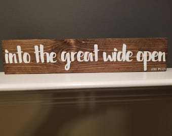 Handmade Tom Petty lyrics wood sign.