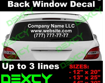 Custom Vinyl Decal Car Truck Back Window Windshield Vinyl - Custom vinyl stickers for trucks