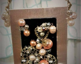 Re-Purposed Framed Jeweled Ornament