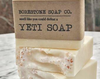 3 BARS - Yeti Soap (PEPPERMINT, Himalayan Pink Salt)