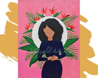 Blood (Lianne La Havas Black Woman Alpha Kappa Alpha Art)
