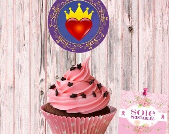 Descendants Evie Cupcake Toppers -INSTANT DOWNLOAD