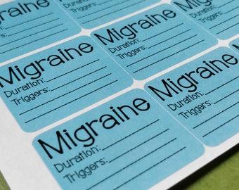 Migraine Tracker - Headache Tracker - Chronic Illness Planner - Spoonie - Trigger Tracker - Fits any sized Planner