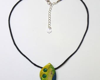 Hand-made Pendant Necklace for Women by Rose Jewelry. Abstract Necklace with Hints of Gold