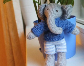 Knitted Stuffed The Elephant