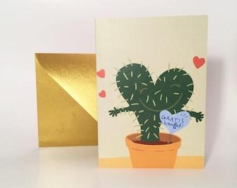 "Greeting card ""Free hug"""
