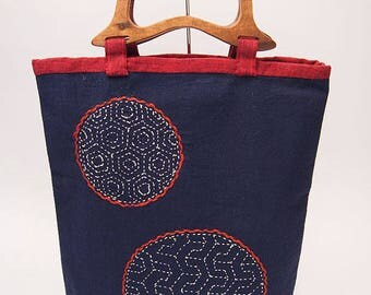 Sashiko Embroidery Bag
