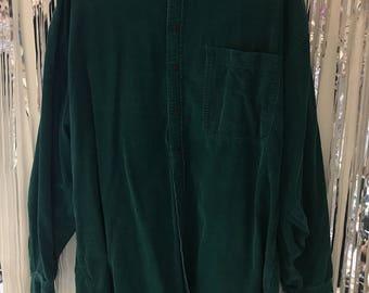 Vintage Green Corduroy Shirt
