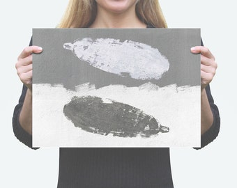 YING YANG EGGPLANT Digital Art Print, Printable, Instant Download pdf, Minimal Design, Minimalistic, Rough, Black & White Illustration