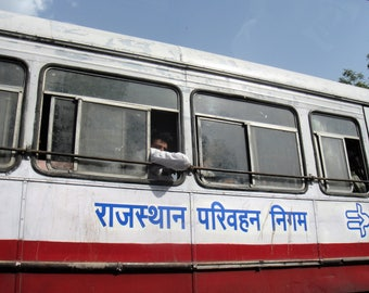 Bus Ride - India - Travel Photography - Instant Download