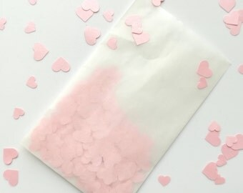 Heart confetti bags, set of 10 confetti bags, events, weddings, parties