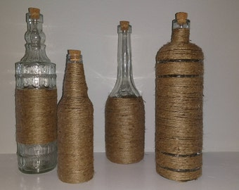 Twine Wrapped Bottles