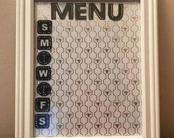 Dry Erase Menu Board 8 x 10 **housewarming gift** Birthday gift** cook** organized kitchen **bees