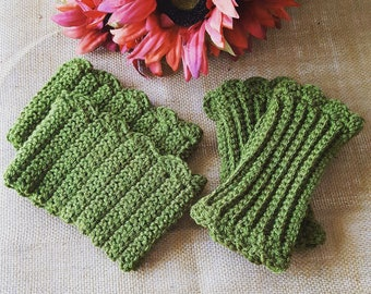 Crochet Boot Cuffs and Fingerless Gloves Set (also sold separately)