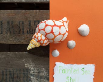 Hand Painted Whelk Shell