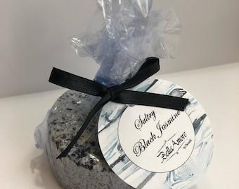 Sultry Jasmine, Black Sea Salt, Stocking Stuffer, Birthday Gift, Bath Bombs, Gift for Her, Gift for Girlfriend, Gift for Mom, Sea Salt