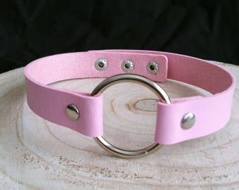 Pink Circle Choker