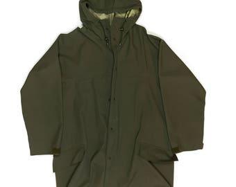 Army Long Raincoat