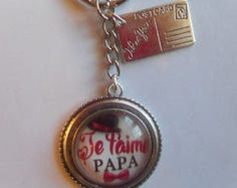 """Door keys/Dad / """"I love you Dad"""" / gift / birthday / fathers/thanks/Christmas party"""