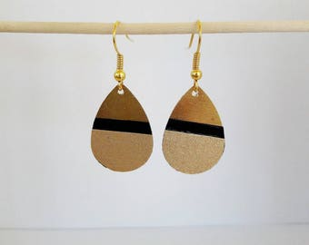 """The little ' Lil papers: paper masking tape and """"drops"""" earrings"""
