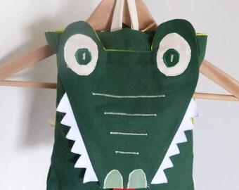 Kindergarten backpack * CROCODILE * adjustable straps