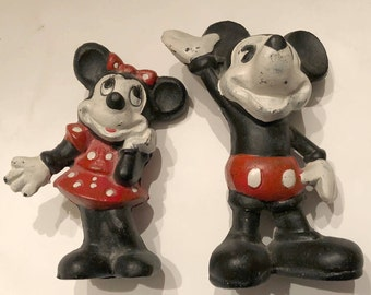 Mickey and Minnie Cast Iron Banks