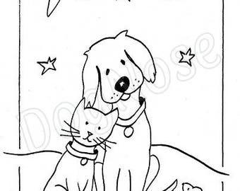 childrens colour in christmas card packs 5 hand drawn assorted original dognose designs
