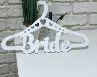 Wedding hanger Bride hanger Personalized Briden hanger Personalized Wedding dress hanger Rustic wedding hanger