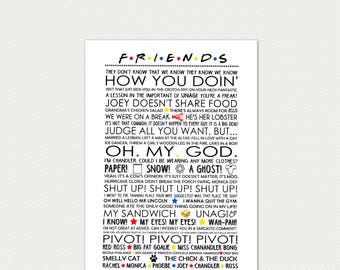 Friends Quotes Central Perk Poster Quality Print 260gsm Premium Poster Paper