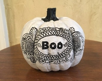 White Halloween Pumpkin Decoration