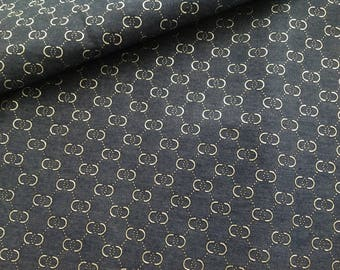 Printed cotton jeans fabric
