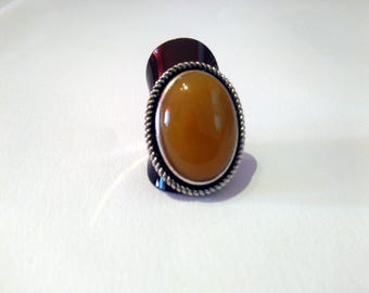 natural agate stone ring