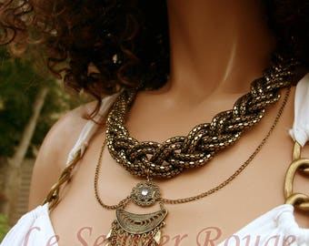 Necklace style oriental brass Anthea