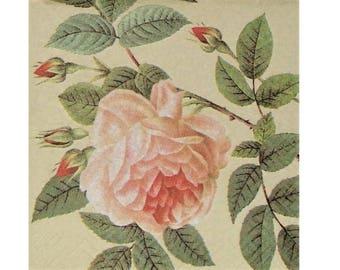 Set of 3 old PLA010 Roses paper napkins