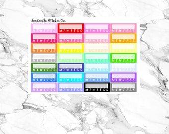 Multicolor Habit Tracker Functional Planner Stickers