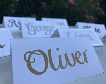 Personalised Place Cards - Handwritten Calligraphy