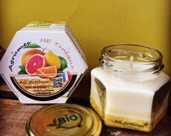 Natural TONIC candle citrus essential oils