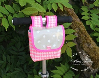 Bicycle and neon pink scooter waterproof pvc coated canvas bag