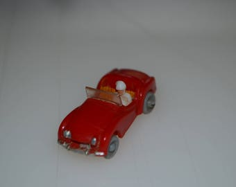Red Triump TR Sports Car Plastic Toy Made In Hong Kong #10