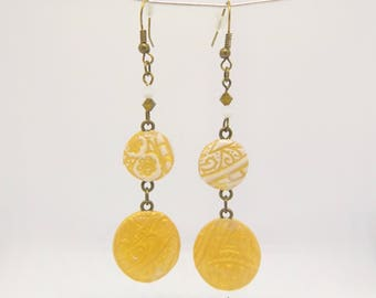 Julie Collection, Earrings pendants with  double pearl