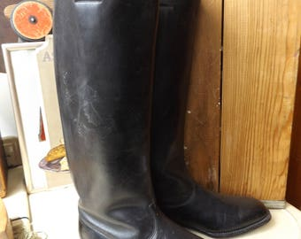 Antique Pair of WW1 Leather Boots - Army Calvary Equestrian Riding Boots