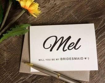 Bridesmaid card, will you be my bridesmaid card, will you be my maid of honour card, be my bridesmaid card, bridesmaid proposal