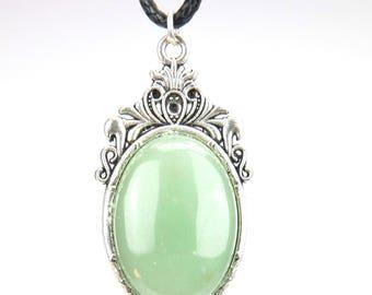 Pendant necklace - mineral - Aventurine