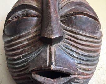 Antique Mask 1900 Songye-Luba Kifwebe Female Mask, Democratic Republic Congo Wood