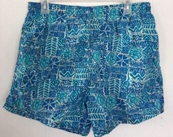 90s Patterned Swim Trunks