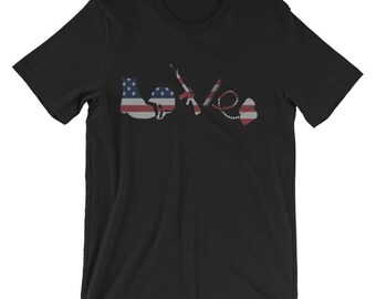 Love Military for Army Navy Air Force Marines Coast Guard Soldier - Military Support T Shirt