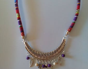 Ethnic half moon style necklace