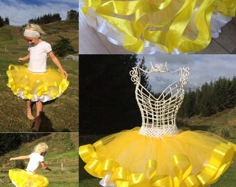 double layer ribbon tutu skirt