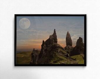 Artistic Scottish Landscape Old Man of Storr - Digital