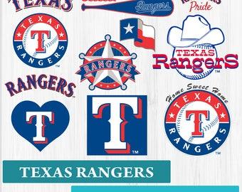 INSTANT DOWNLOAD_Texas Rangers SVG, Texas Baseball Clipart, Texas Rangers DXF, Baseball Clipart, Texas Clipart
